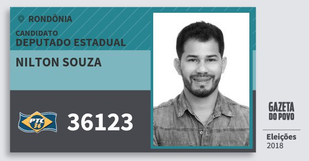 Santinho Nilton Souza 36123 (PTC) Deputado Estadual   Rondônia   Eleições 2018