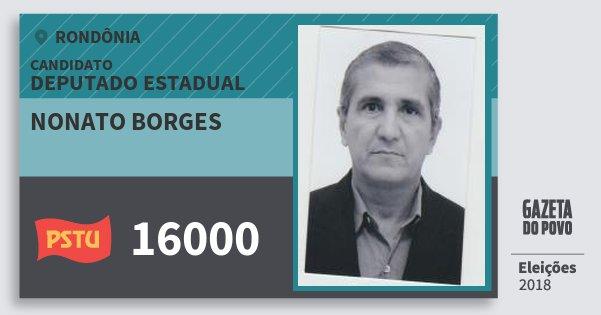 Santinho Nonato Borges 16000 (PSTU) Deputado Estadual | Rondônia | Eleições 2018