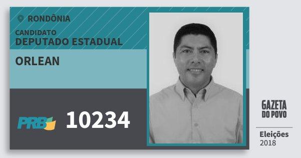 Santinho Orlean 10234 (PRB) Deputado Estadual | Rondônia | Eleições 2018