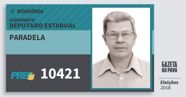 Santinho Paradela 10421 (PRB) Deputado Estadual | Rondônia | Eleições 2018