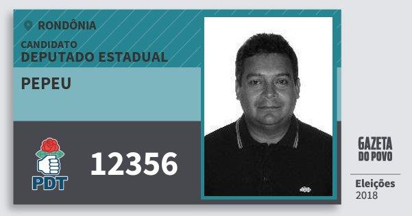 Santinho Pepeu 12356 (PDT) Deputado Estadual | Rondônia | Eleições 2018