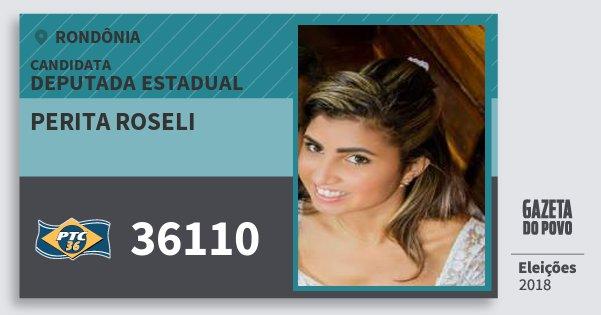 Santinho Perita Roseli 36110 (PTC) Deputada Estadual | Rondônia | Eleições 2018
