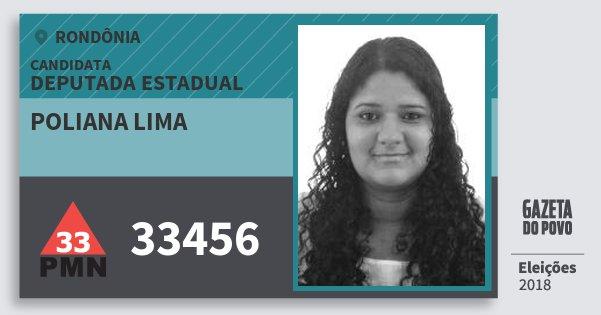 Santinho Poliana Lima 33456 (PMN) Deputada Estadual | Rondônia | Eleições 2018