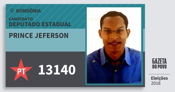 Santinho Prince Jeferson 13140 (PT) Deputado Estadual   Rondônia   Eleições 2018