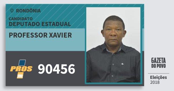 Santinho Professor Xavier 90456 (PROS) Deputado Estadual | Rondônia | Eleições 2018