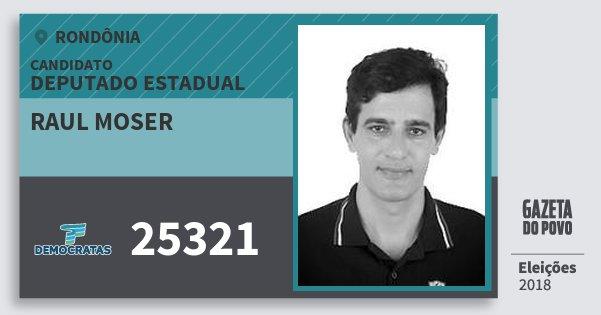 Santinho Raul Moser 25321 (DEM) Deputado Estadual | Rondônia | Eleições 2018