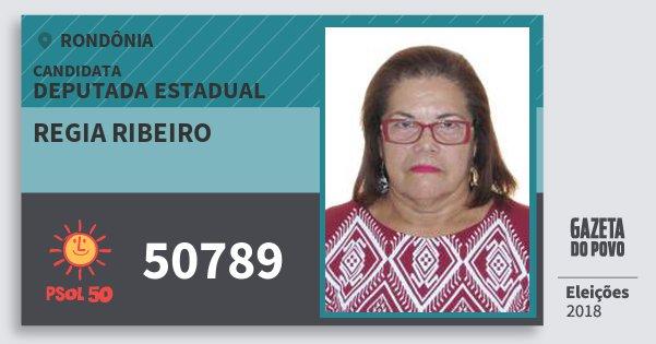 Santinho Regia Ribeiro 50789 (PSOL) Deputada Estadual | Rondônia | Eleições 2018