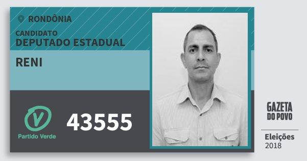Santinho Reni 43555 (PV) Deputado Estadual | Rondônia | Eleições 2018