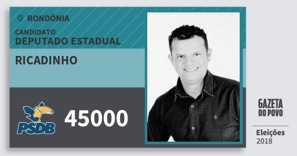 Santinho Ricadinho 45000 (PSDB) Deputado Estadual | Rondônia | Eleições 2018
