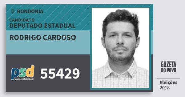 Santinho Rodrigo Cardoso 55429 (PSD) Deputado Estadual | Rondônia | Eleições 2018