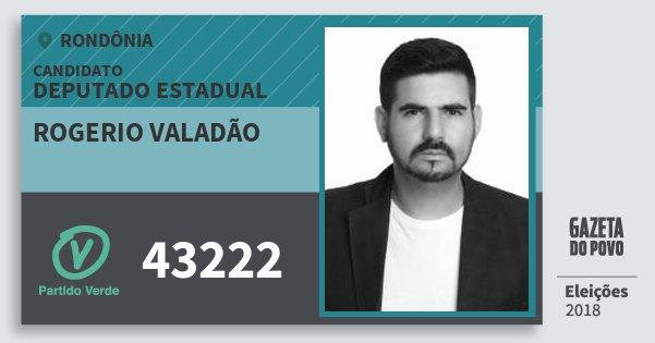 Santinho Rogerio Valadão 43222 (PV) Deputado Estadual | Rondônia | Eleições 2018