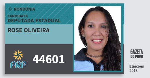 Santinho Rose Oliveira 44601 (PRP) Deputada Estadual | Rondônia | Eleições 2018