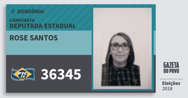 Santinho Rose Santos 36345 (PTC) Deputada Estadual | Rondônia | Eleições 2018