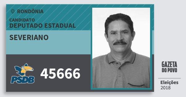 Santinho Severiano 45666 (PSDB) Deputado Estadual | Rondônia | Eleições 2018
