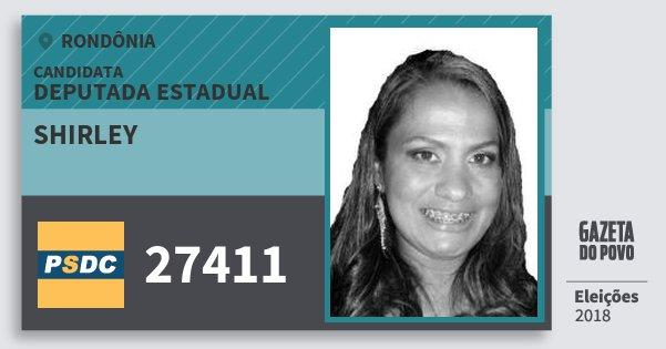 Santinho Shirley 27411 (DC) Deputada Estadual | Rondônia | Eleições 2018