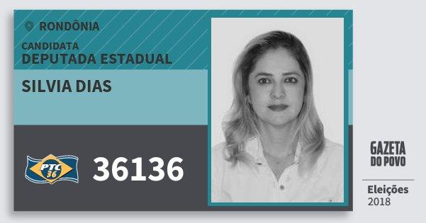 Santinho Silvia Dias 36136 (PTC) Deputada Estadual | Rondônia | Eleições 2018