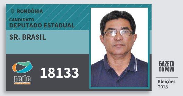 Santinho Sr. Brasil 18133 (REDE) Deputado Estadual | Rondônia | Eleições 2018