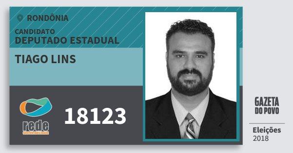 Santinho Tiago Lins 18123 (REDE) Deputado Estadual | Rondônia | Eleições 2018