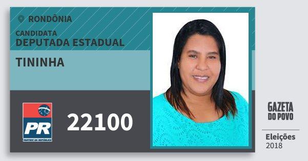 Santinho Tininha 22100 (PR) Deputada Estadual | Rondônia | Eleições 2018