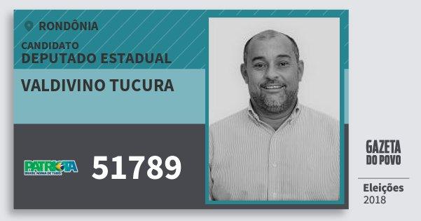 Santinho Valdivino Tucura 51789 (PATRI) Deputado Estadual | Rondônia | Eleições 2018