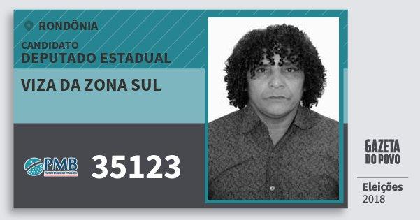Santinho Viza da Zona Sul 35123 (PMB) Deputado Estadual | Rondônia | Eleições 2018