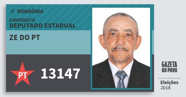 Santinho Zé do Pt 13147 (PT) Deputado Estadual | Rondônia | Eleições 2018