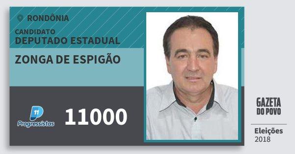 Santinho Zonga de Espigão 11000 (PP) Deputado Estadual   Rondônia   Eleições 2018