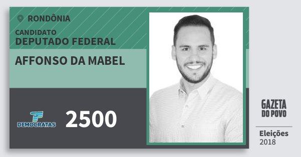 Santinho Affonso da Mabel 2500 (DEM) Deputado Federal | Rondônia | Eleições 2018