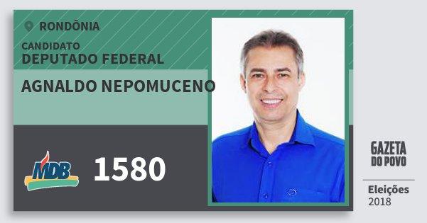 Santinho Agnaldo Nepomuceno 1580 (MDB) Deputado Federal | Rondônia | Eleições 2018
