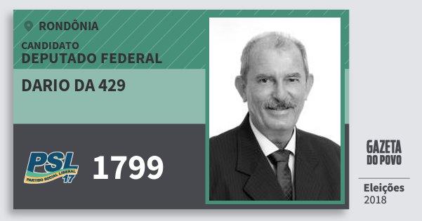 Santinho Dario da 429 1799 (PSL) Deputado Federal | Rondônia | Eleições 2018