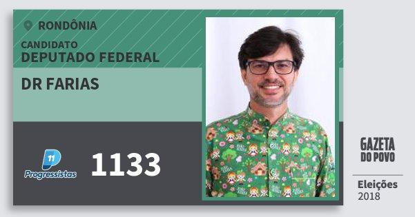 Santinho Dr Farias 1133 (PP) Deputado Federal | Rondônia | Eleições 2018