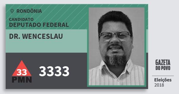 Santinho Dr. Wenceslau 3333 (PMN) Deputado Federal | Rondônia | Eleições 2018