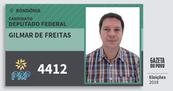 Santinho Gilmar de Freitas 4412 (PRP) Deputado Federal | Rondônia | Eleições 2018