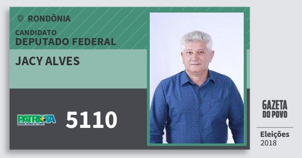 Santinho Jacy Alves 5110 (PATRI) Deputado Federal | Rondônia | Eleições 2018