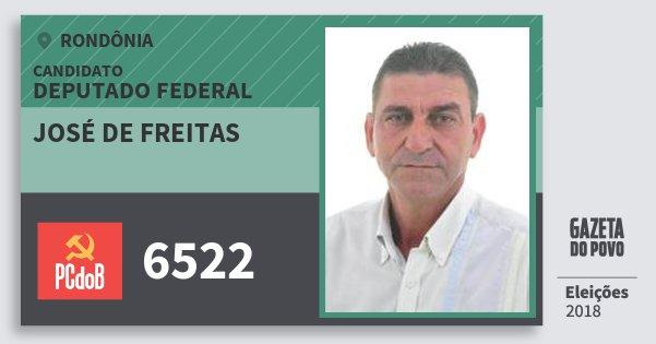 Santinho José de Freitas 6522 (PC do B) Deputado Federal | Rondônia | Eleições 2018