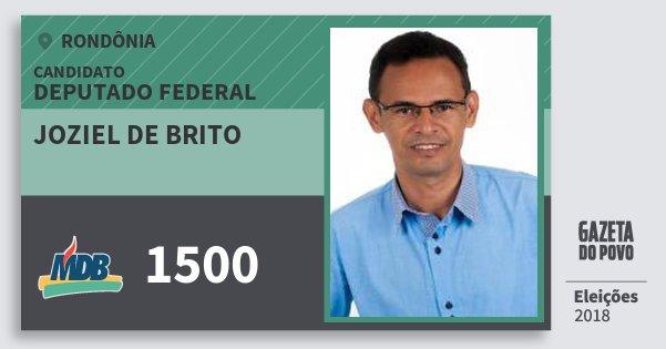 Santinho Joziel de Brito 1500 (MDB) Deputado Federal | Rondônia | Eleições 2018
