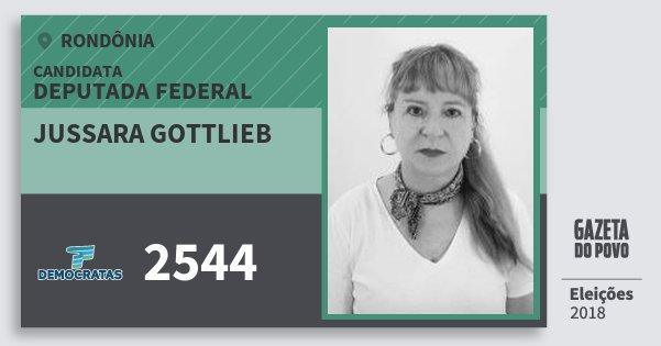 Santinho Jussara Gottlieb 2544 (DEM) Deputada Federal | Rondônia | Eleições 2018