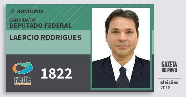 Santinho Laércio Rodrigues 1822 (REDE) Deputado Federal | Rondônia | Eleições 2018