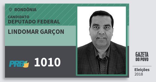 Santinho Lindomar Garçon 1010 (PRB) Deputado Federal | Rondônia | Eleições 2018
