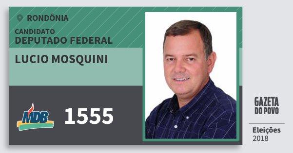Santinho Lucio Mosquini 1555 (MDB) Deputado Federal | Rondônia | Eleições 2018