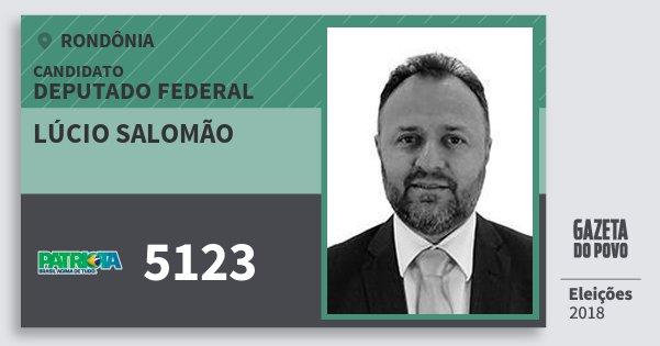 Santinho Lúcio Salomão 5123 (PATRI) Deputado Federal | Rondônia | Eleições 2018