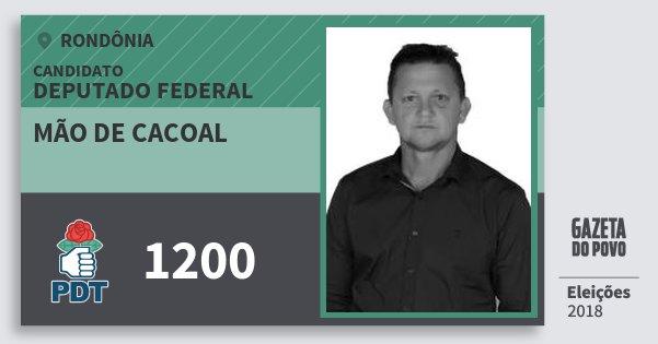 Santinho Mão de Cacoal 1200 (PDT) Deputado Federal | Rondônia | Eleições 2018