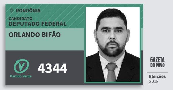 Santinho Orlando Bifão 4344 (PV) Deputado Federal | Rondônia | Eleições 2018