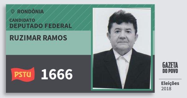 Santinho Ruzimar Ramos 1666 (PSTU) Deputado Federal | Rondônia | Eleições 2018