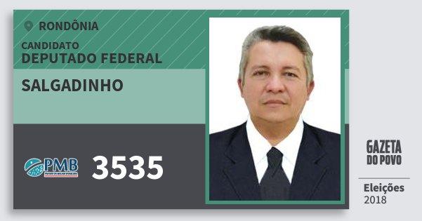 Santinho Salgadinho 3535 (PMB) Deputado Federal | Rondônia | Eleições 2018
