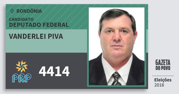 Santinho Vanderlei Piva 4414 (PRP) Deputado Federal | Rondônia | Eleições 2018