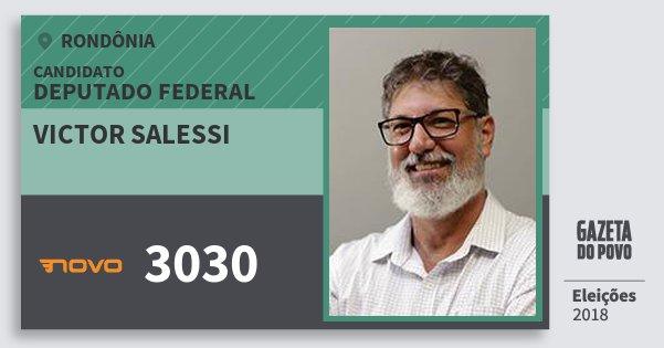 Santinho Victor Salessi 3030 (NOVO) Deputado Federal | Rondônia | Eleições 2018