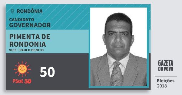 Santinho Pimenta de Rondonia 50 (PSOL) Governador | Rondônia | Eleições 2018