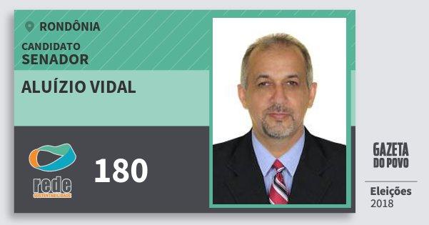 Santinho Aluízio Vidal 180 (REDE) Senador | Rondônia | Eleições 2018