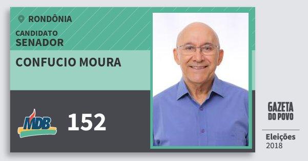 Santinho Confucio Moura 152 (MDB) Senador | Rondônia | Eleições 2018